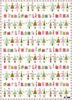 Geschenkpapier-Set Tannenbäumchen