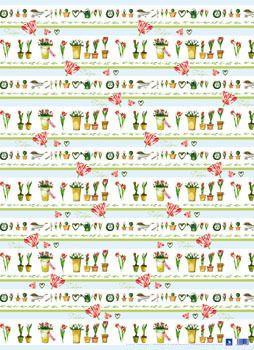 Geschenkpapier-Set Tulpen