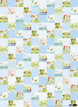 Geschenkpapier-Set Frühlingsquadrate