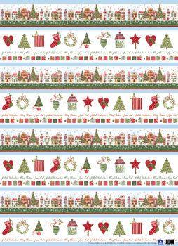 Geschenkpapier-Set Weihnachtshäuser