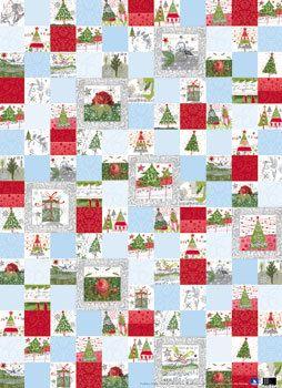 Geschenkpapier-Set Weihnachtsquadrate