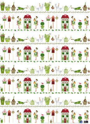 Geschenkpapier-Set Gartenzeit