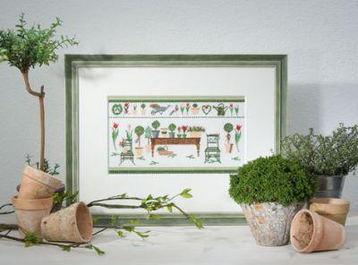 Stickvorlage Gartenzeit