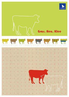 Stickvorlage Gras, Heu, Klee