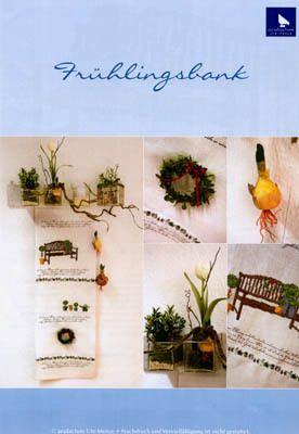 Stickvorlage Frühlingsbank