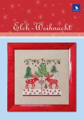 Elch-Weihnacht, Stickmuster